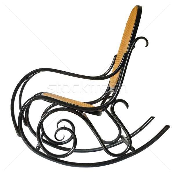 Schommelstoel geïsoleerd stoel ontspannen meubels oma Stockfoto © ajt