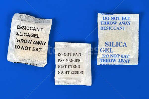 Gel macro zakken Blauw Stockfoto © ajt