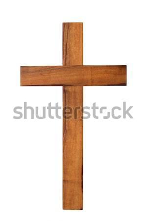 Photo stock: Bois · croix · blanche · faible · isolé · christ