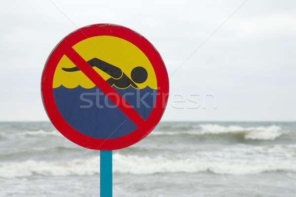No swimming Stock photo © ajt