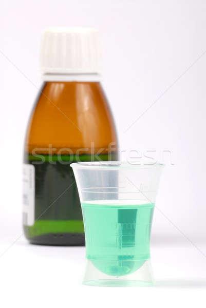 Szirup üveg gyógyszer izolált fehér egészség Stock fotó © ajt