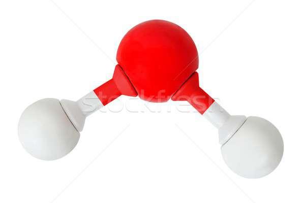 Su beyaz model yalıtılmış bilim kırmızı Stok fotoğraf © ajt