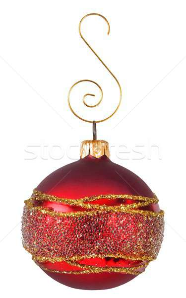 Arbre de noël décoration isolé Noël babiole blanche Photo stock © ajt