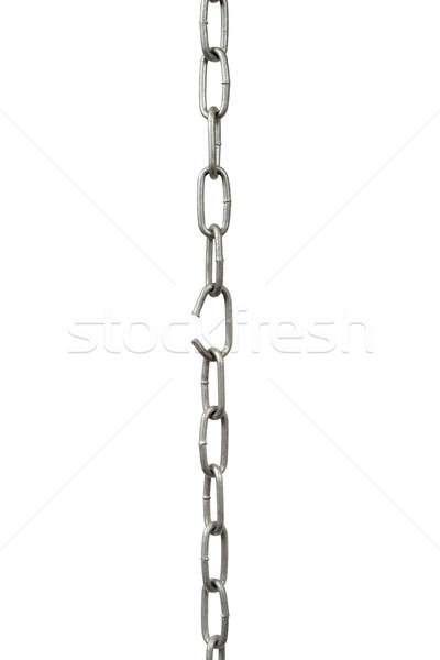 Link catena rotto isolato bianco metal Foto d'archivio © ajt