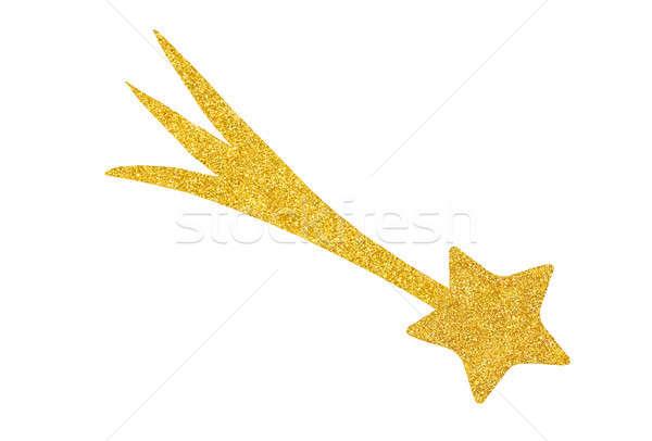 Dourado estrela decoração isolado branco pronto Foto stock © ajt