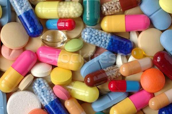 Tabletták makró kórház gyógyszer drogok beteg Stock fotó © ajt