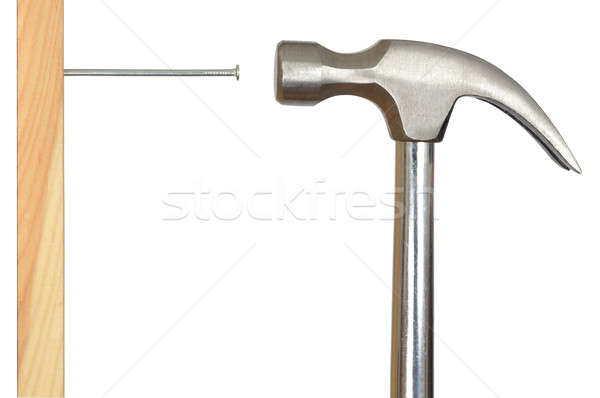 Stock photo: Nail and Hammer