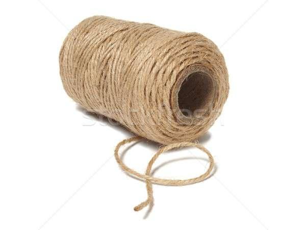 Cséve zsinór izolált fehér kötél Stock fotó © ajt