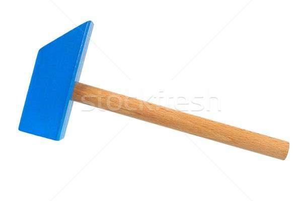 Brinquedo de madeira martelo isolado branco brinquedo Foto stock © ajt