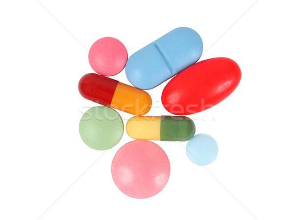 Pillen witte macro capsules geïsoleerd Stockfoto © ajt