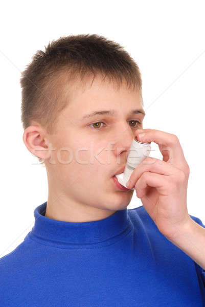 Teenager with Inhaler Stock photo © ajt