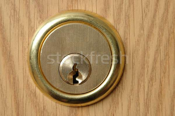 Lock porte protection trou macro serrure Photo stock © ajt