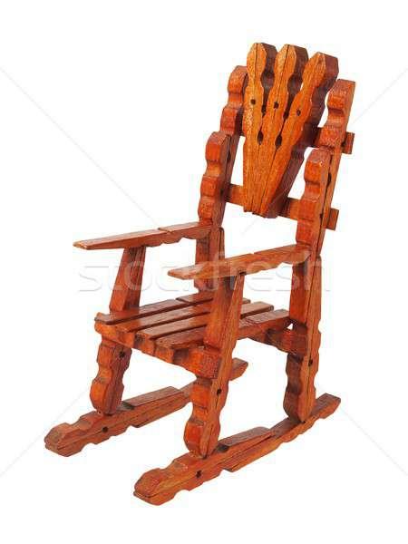 Zabawki fotel odizolowany biały Zdjęcia stock © ajt