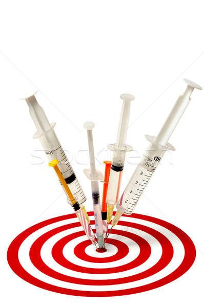 Cél izolált fehér egészség gyógyszer siker Stock fotó © ajt