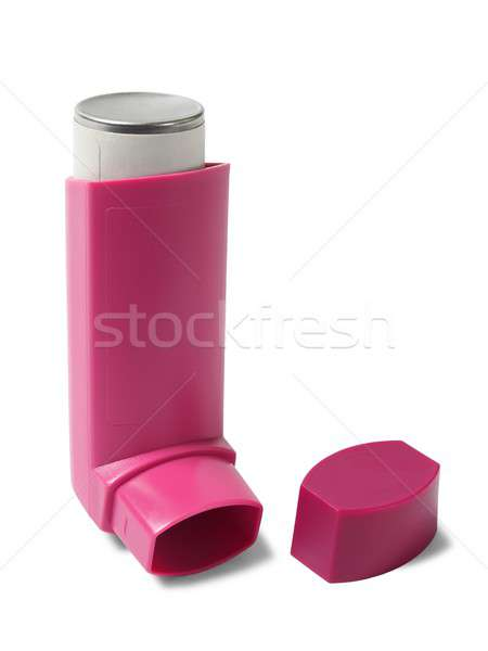Asthma inhaler on white Stock photo © ajt