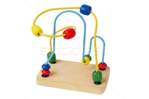 Houten speelgoed witte geïsoleerd speelgoed Stockfoto © ajt