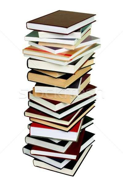 Kitaplar yüksek yalıtılmış beyaz Stok fotoğraf © ajt