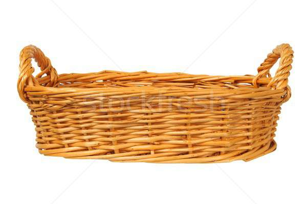плетеный корзины белый пусто ретро контейнера Сток-фото © ajt