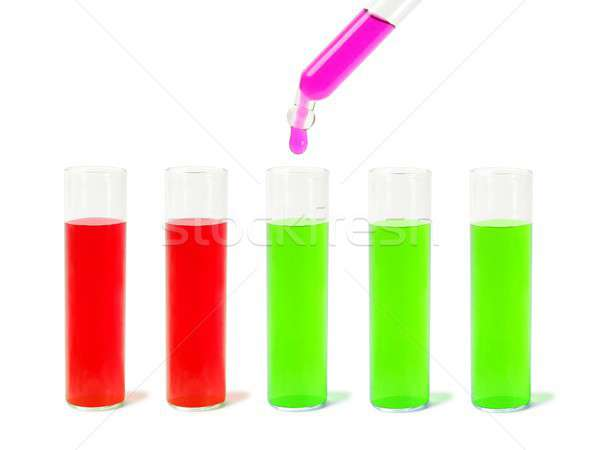 Dropper and test tubes Stock photo © ajt