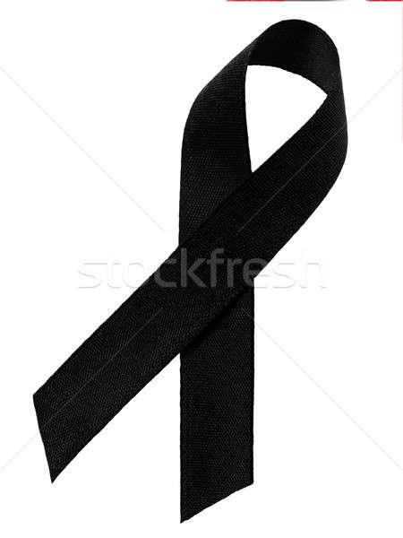 Black awareness  ribbon Stock photo © ajt