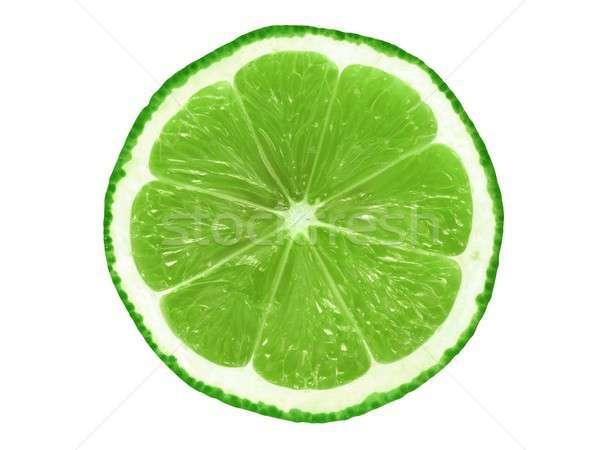 Stock photo: Lime slice on white