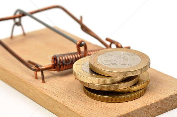 Stok fotoğraf: Euro · para · beyaz · iş · nakit · tasarruf