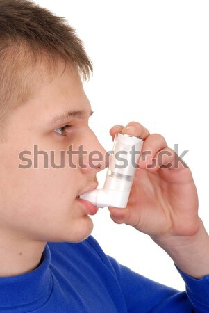 Girl with Inhaler Stock photo © ajt