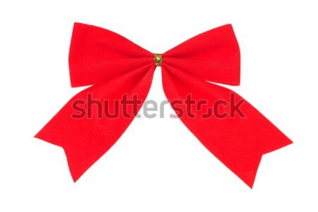 Red bow on white Stock photo © ajt