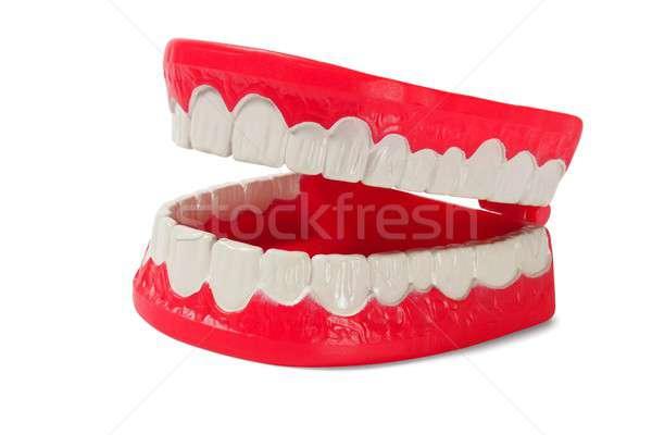 Weiß öffnen Spielzeug Zahnarzt spielen Stock foto © ajt