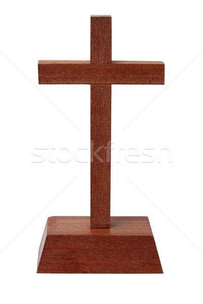 木製 クロス 白 孤立した キリスト ストックフォト © ajt
