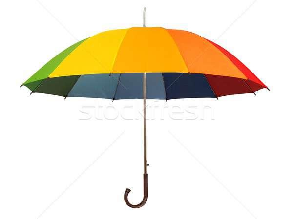 Rainbow ombrello bianco isolato moda autunno Foto d'archivio © ajt