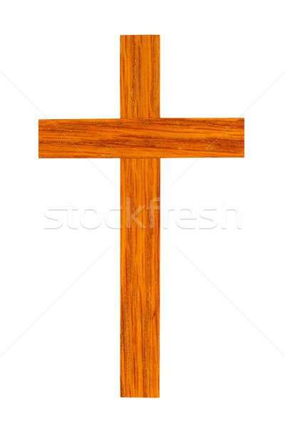 Houten kruis witte klein geïsoleerd christ Stockfoto © ajt