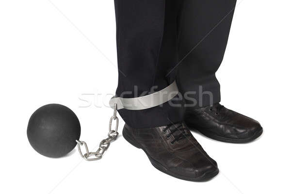 Businesman with ball and chain Stock photo © ajt