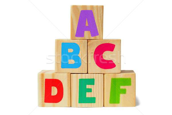 Stock photo: Wooden blocks with letters