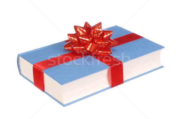 Ajándék könyv szalag íj izolált fehér Stock fotó © ajt