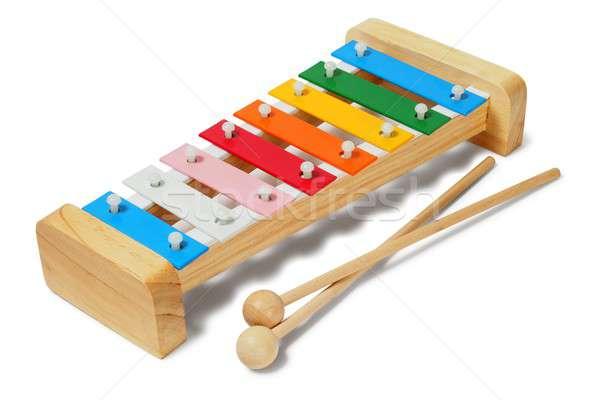 Xylophone on white Stock photo © ajt
