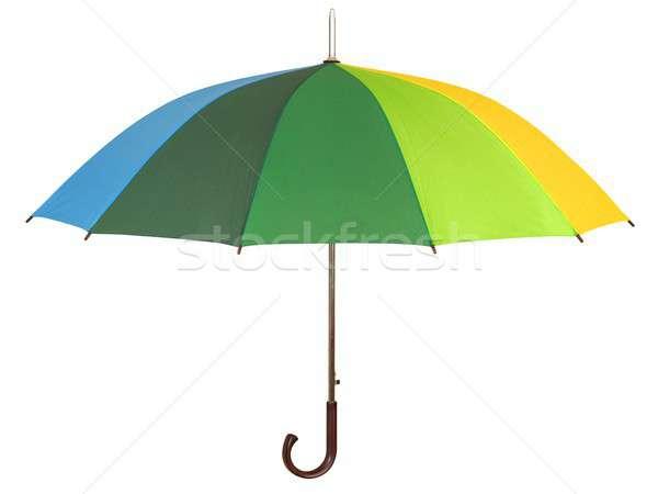 Rainbow umbrella on white Stock photo © ajt