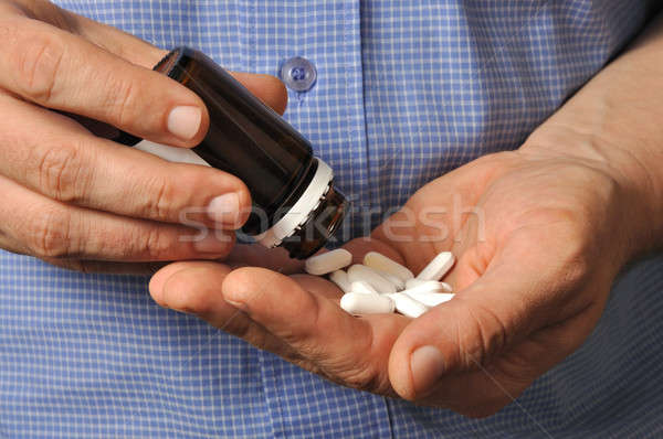 Man with Pills Stock photo © ajt