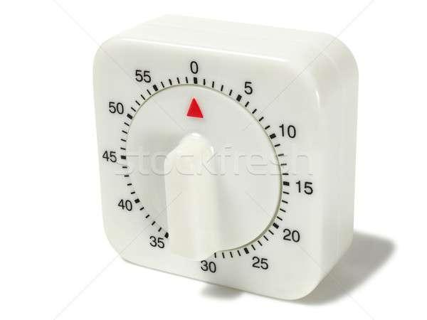 White timer on white Stock photo © ajt