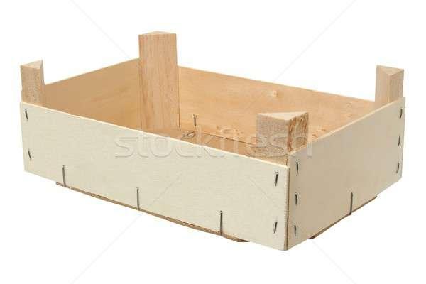 Vide bois boîte isolé blanche Photo stock © ajt