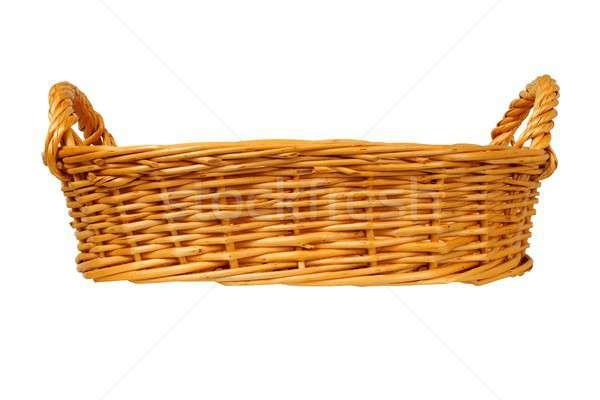 Wicker basket on white Stock photo © ajt