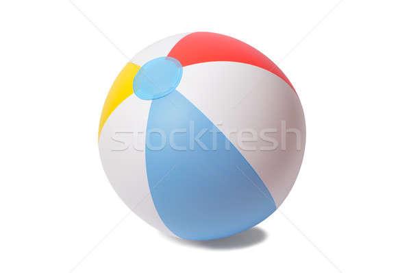 Strandbal opblaasbare geïsoleerd witte strand spel Stockfoto © ajt