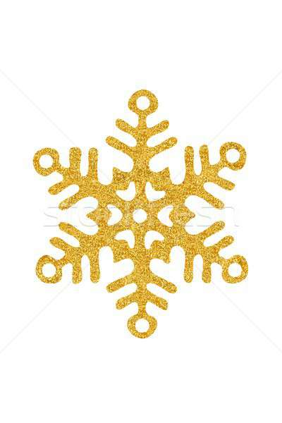 Karácsony hópehely fehér arany izolált Stock fotó © ajt