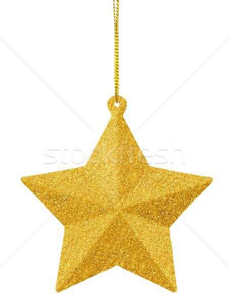 Natale gingillo bianco impiccagione oro Foto d'archivio © ajt