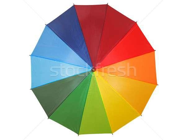 虹 傘 白 孤立した 秋 色 ストックフォト © ajt