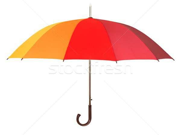 Stock fotó: Szivárvány · esernyő · fehér · izolált · divat · ősz