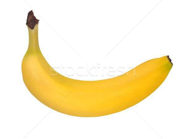 Banane blanche fraîches jaune isolé fruits Photo stock © ajt