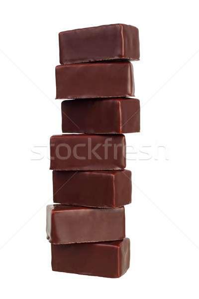 Stok fotoğraf: Yalıtılmış · beyaz · gıda · çikolata · tatlı