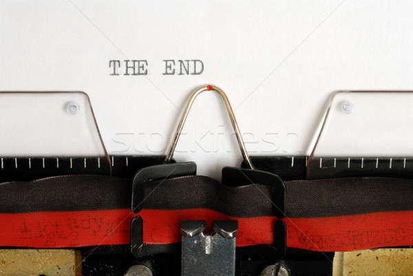 Befejezés makró írógép szavak szalag ír Stock fotó © ajt