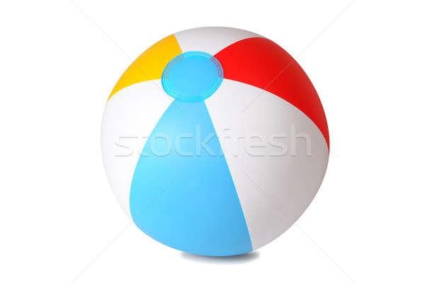 Isolado bola de praia inflável branco praia jogo Foto stock © ajt